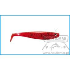 Vinil Delalande Shad GT 13cm Cor:34 Rouge Noir 5un
