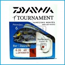 Anzois Empatados Daiwa Tournament nº1 0.35mm