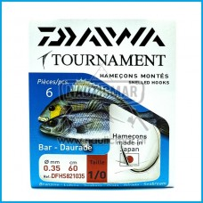 Anzois Empatados Daiwa Tournament nº1/0 0.35mm