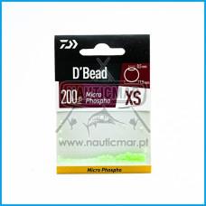 Pérolas Daiwa Micro Beads Fosfo 1,5mm 200pcs