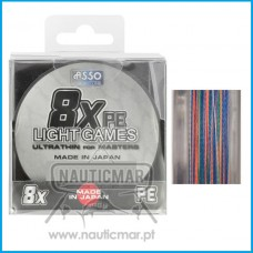 Multifilamento Asso Light Games 8B Multicor 0.285mm 300m