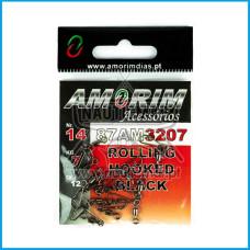 Destorcedor Amorim Rolling Hooked Preto 12pcs nº14