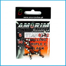Destorcedor Amorim Rolling Triplo c/ fluo Tam.5x6