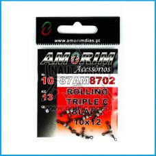 Destorcedor Amorim Rolling Triplo c/ fluo Tam.10x12