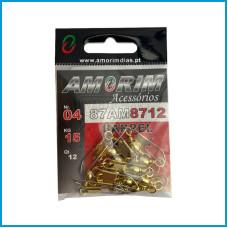 Destorcedor Amorim Barrel  c/ Colchete 12pcs nº4