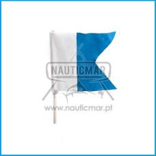 Bandeira ALPHA Picasso Completa c/ Suporte