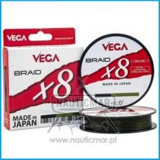 Multifilamento Vega Braid x8 Verde 0.14mm 300m
