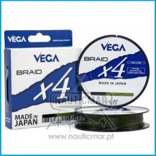 Multifilamento Vega Braid x4 Verde 0.18mm 270m