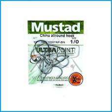 Anzois Mustad Chinu AllRound Ref.10001NP BN Nº1/0