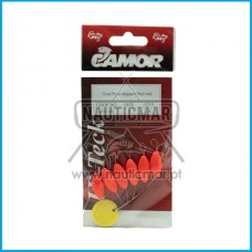 STOPPER CAMOR OVAL FLOAT FLUO RED Tam.3
