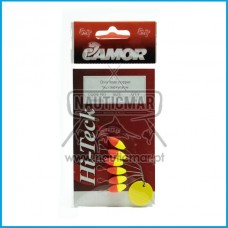 STOPPER CAMOR OVAL FLOAT FLUO RED+YELLOW Tam.1
