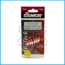STOPPER CAMOR OVAL FLOAT FLUO RED+WHITE Tam.1