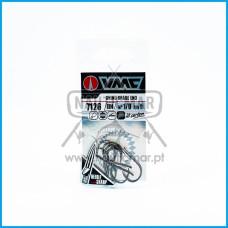 Anzois VMC 7126 BN nº1/0 Chinu Spade End 9un