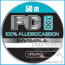 LINHA ASARI FC-100 100% FLUOROCARBONO 0.20mm 50m