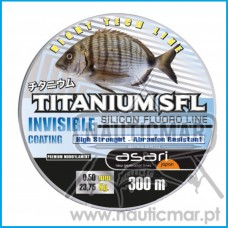 Linha Asari Titanium SFL Silic. Fluoro 0.40mm 300m