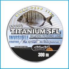 Linha Asari Titanium SFL Silic. Fluoro 0.45mm 300m