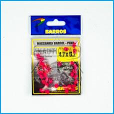 Missangas Barril Rosa Barros 4.7x6.2 30pcs