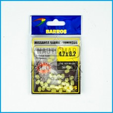 Missangas Barril Luminous Barros 4.7x6.2 30pcs