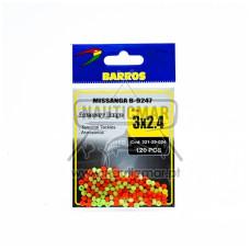 Missangas B-9247 Barros 3x2.4 120pcs