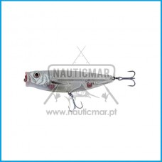 Amostra Savage 3D Minnow Pop Walker 55 5gr White Flash