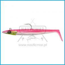 Combo Savage Gear Sandeel V2 12cm 22g Pink Pearl Silver